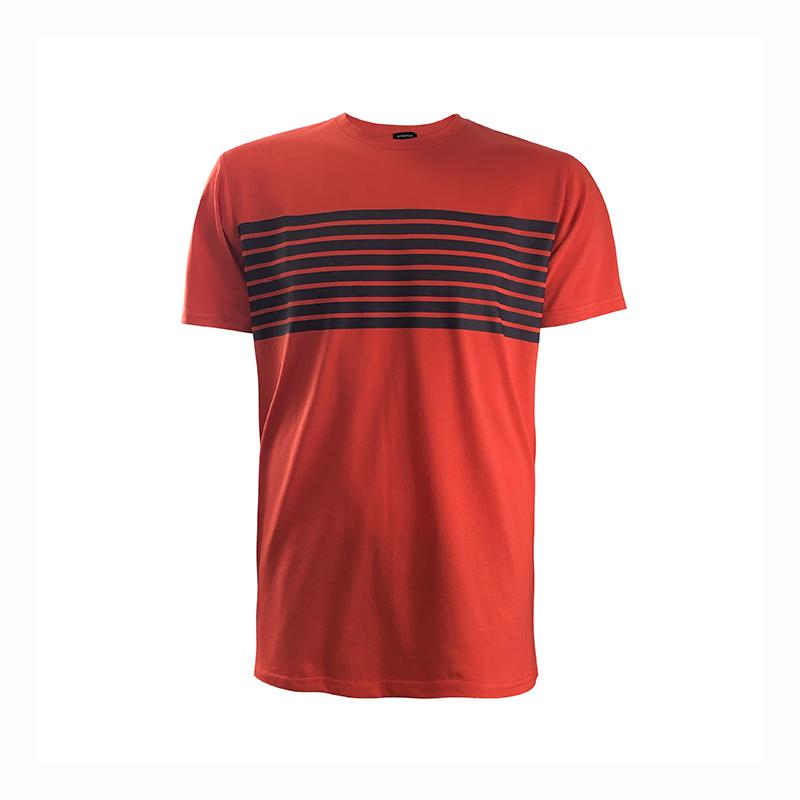 Custom 180gsm Regular Fit Short Sleeve Men's Cotton Stretch Jersey T-shirt