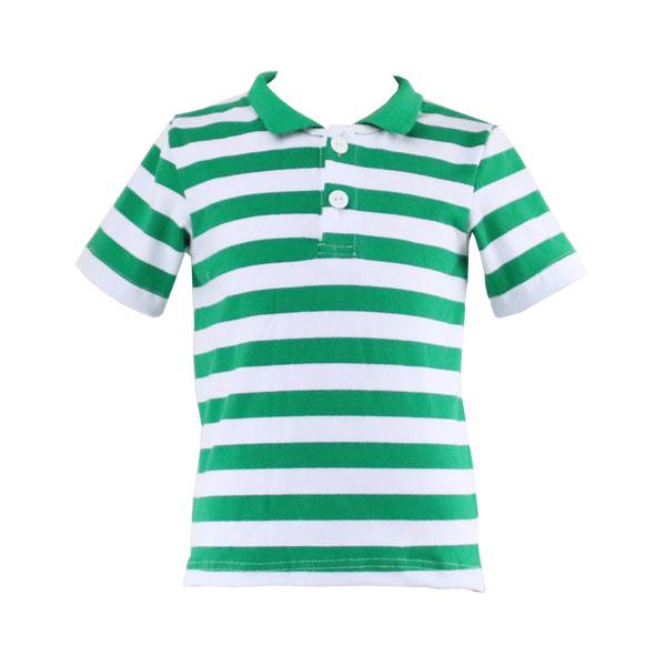 Custom polo t-shirt stripe baby boys t-shirt OEM factory direct sale kids clothing
