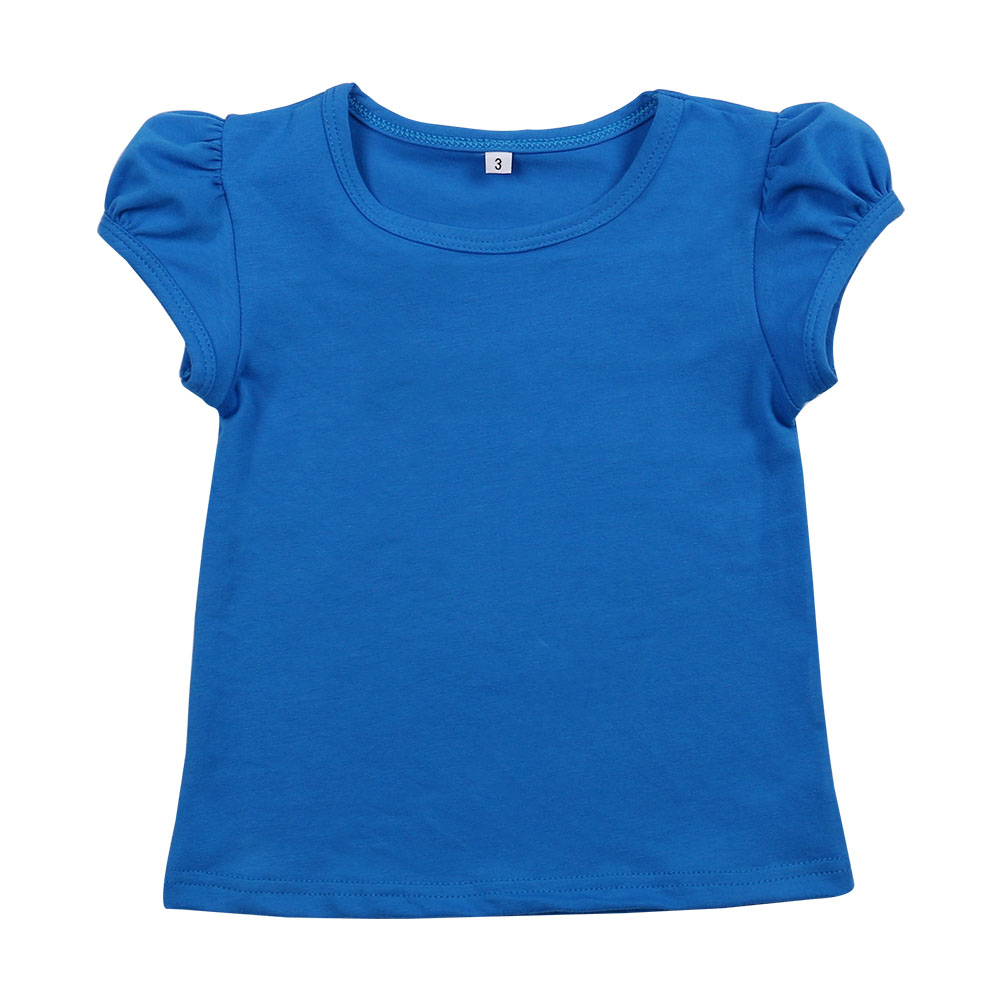 Girls Tee shirts many colors short sleeve top for little girls cap sleeve t-shirts 100% cotton kids clothing