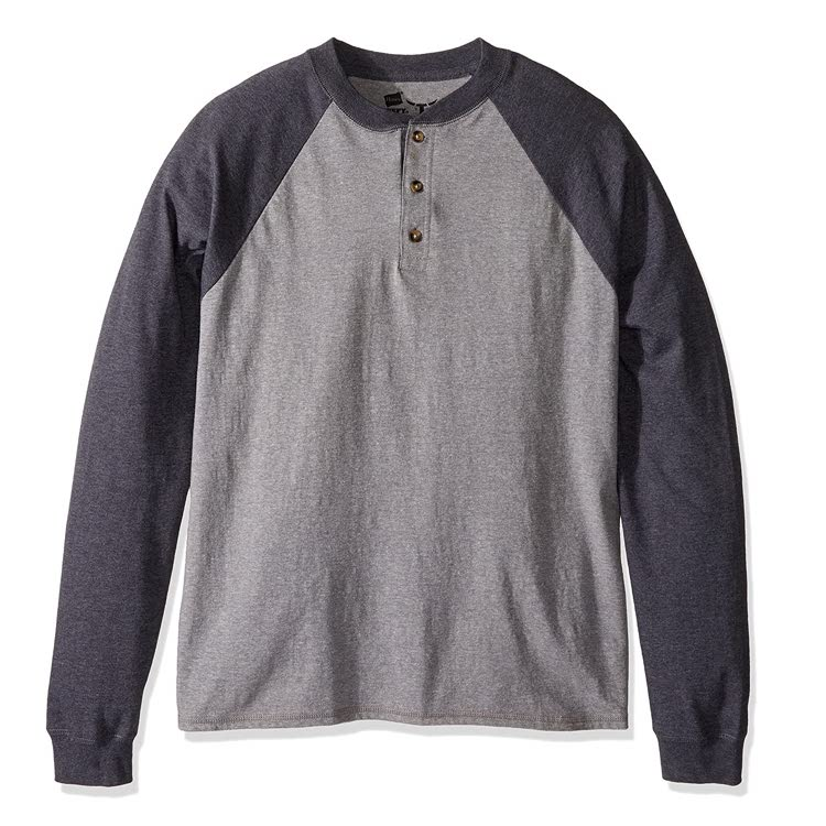 Men's Long Sleeve Raglan Henley