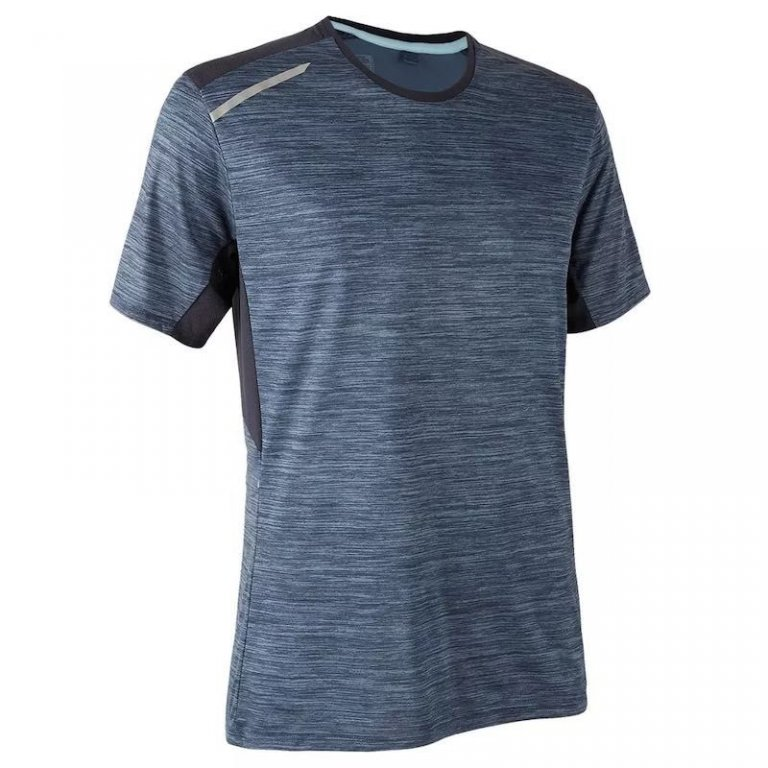 Mens Two Color Cut And Sew 100% Polyester T-shirt With Reflective Tape