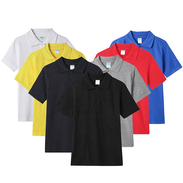 Wholesale OEM blank T-shirt custom printing logo design 100% cotton plain mens golf polo t shirts