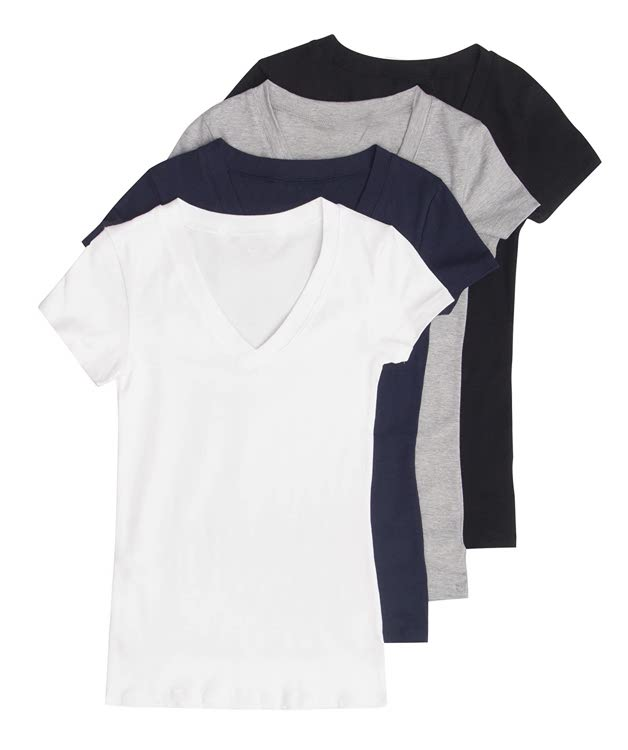 Women's Basic V-Neck T-Shirts